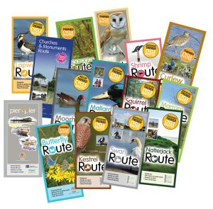 Image of themed cycle route leaflets